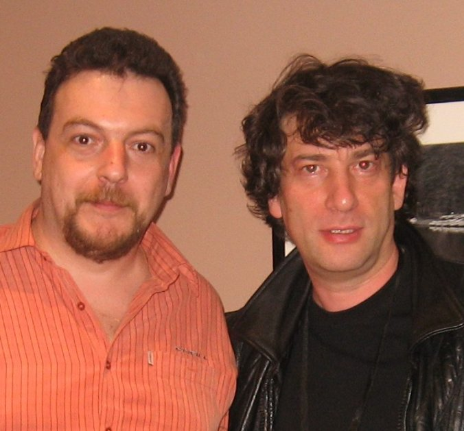 Post-interviu cu Neil Gaiman - Eastercon, Heathrow, martie 2008