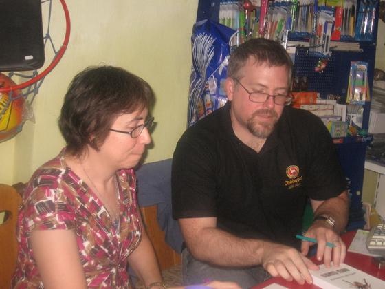 Jeff şi Ann VanderMeer la Satu Mare, în august 2008